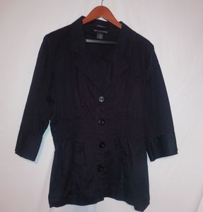 ANTILIA FEMME Black Stretch Dress Top 3X Plus